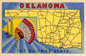 Oklahoma, The Sooner State, Map