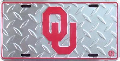 Oklahoma University Diamond License Plate