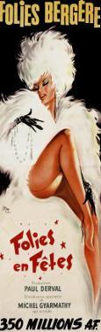 Folies-Bergere: Folies en Fetes, c.1964 by Okley