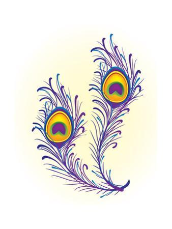 Peacock Feather by Oksana Pravdina