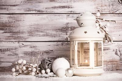 Cristmas Lantern with Snow by oksix