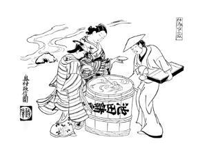 The Three Sake-Tasters, C1700 by Okumura Masanobu