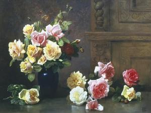 Still Life of Roses by Olaf August Hermansen