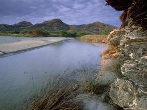 Estuary of Fango River, La Corse, France by Olaf Broders