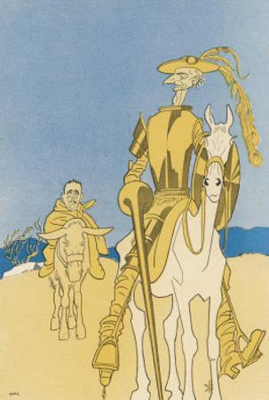 Sir Edward Grey as Don Quixote and Vittorio Emanuele as Sancho Panza