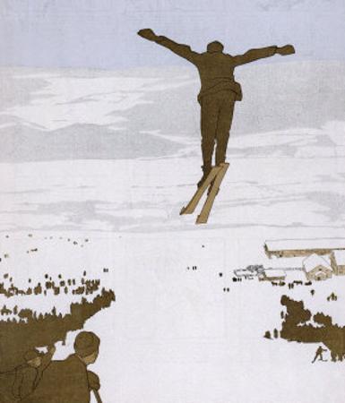Skier Flies Through the Air