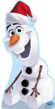 Olaf Santa Hat - Disney's Frozen Lifesize Cardboard Cutout