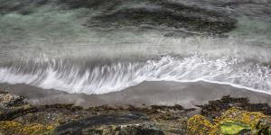 Faroes, coast, waves, rocks, abstract by olbor