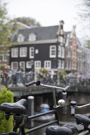 The Netherlands, Holland, Amsterdam, bicycle in canal
