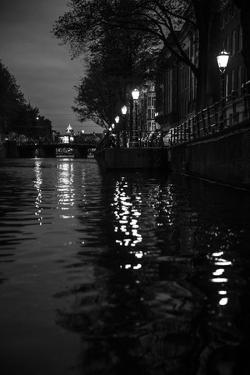 The Netherlands, Holland, Amsterdam, canal, night, lanterns by olbor