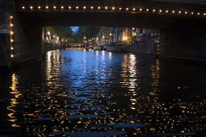 The Netherlands, Holland, Amsterdam, canal, night, lights by olbor