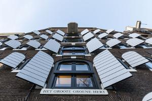 The Netherlands, Holland, Amsterdam, facade with shutters by olbor
