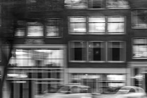 The Netherlands, Holland, Amsterdam, house front, motion, driving by olbor
