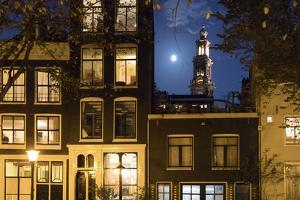 The Netherlands, Holland, Amsterdam, Jordaan, house front, Westerkerk by olbor
