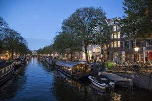 The Netherlands, Holland, Amsterdam, Prinsengracht, blue hour by olbor