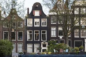 The Netherlands, Holland, Amsterdam, Prinsengracht, gable and garden by olbor