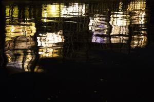 The Netherlands, Holland, Amsterdam, window, water, night, reflexions, by olbor