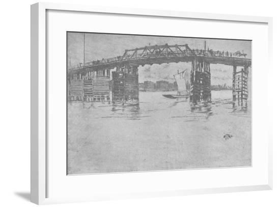 'Old Battersea Bridge', 1879, (1904)-James Abbott McNeill Whistler-Framed Giclee Print