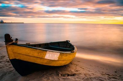 Old Boat at Sunset Beach