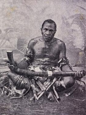 Old Cannibal from Solomon Islands, Photo from Journal Des Voyages Magazine, 1909, Melanesia
