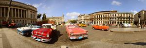 Old Cars on Street, Havana, Cuba