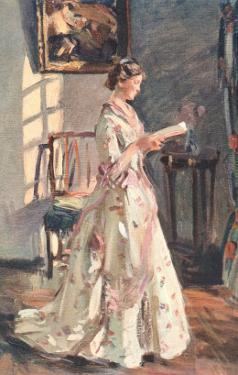 Old Fashioned Lady Reading