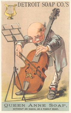 Old Man Playing Cello
