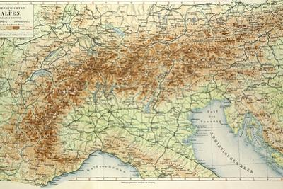 Old Map of the Alps