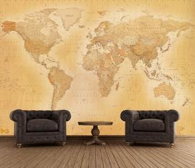 Affordable map wall murals posters for sale at allposters old map wallpaper mural gumiabroncs Choice Image