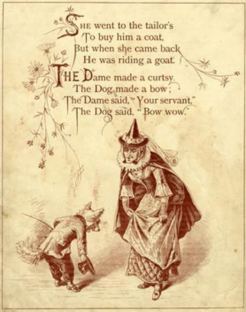 Old Mother Hubbard: Dame Made a Curtsy and Dog Mad a Bow