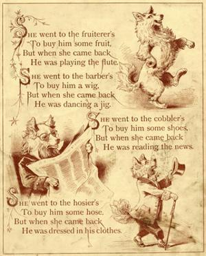 Old Mother Hubbard: Dancing, Reading News, Wearing Clothes
