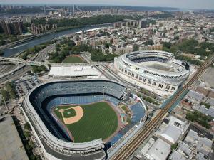 Old New York Yankees Stadium next to New Ballpark, New York, NY