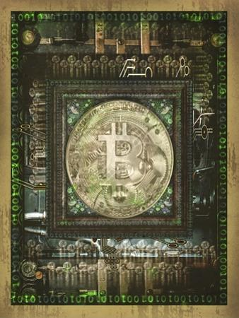 Bitcoin Steam Punk by Old Red Truck