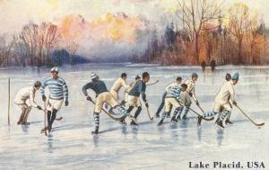 Old Time Hockey on Lake Placid, New York