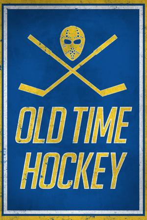 Old Time Hockey Sports Plastic Sign