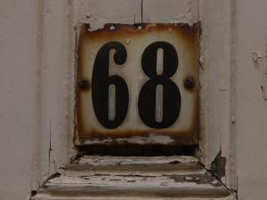 Old Weathered Room Number