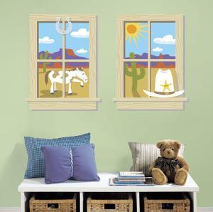 Old West Peel & Stick Window Wall Decal