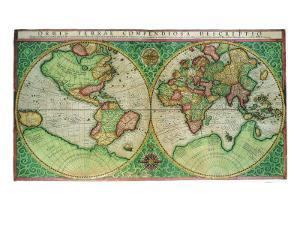 Old World Map 1587