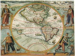 Old World Map 1597
