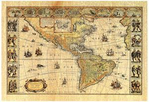 Old World Map Photo # 2 Art Print POSTER lithograph