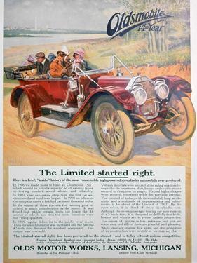 Oldsmobile Car Advert, 1911