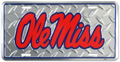 Ole Miss Diamond License Plate