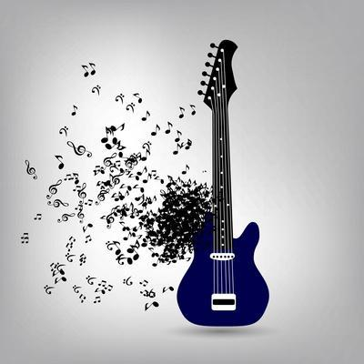 Abstract Music Illustration for Your Design