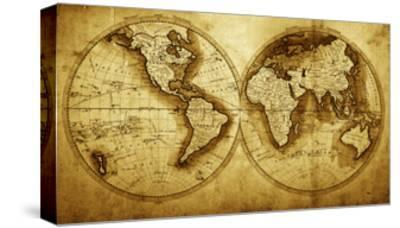 Antique Map Of The World (Circa 1711 Year) by Oleg Golovnev