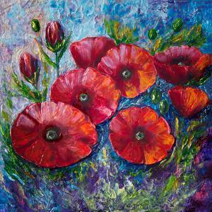 Bella Fresca Poppies 2 by Olena Art