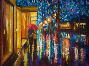 Love In The Rain by Olena Art