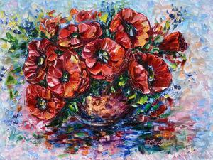 Poppies In Vase by Olena Art