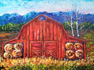 Red Barn Tiff by Olena Art