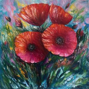 Red Poppies by Olena Art