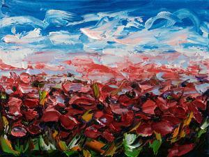 Red Poppy Field by Olena Art